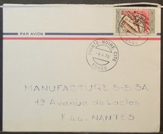 Congo - Cover To France 1970 Textile Industry Costumes 30F Solo - FDC