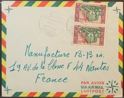 Congo - Cover To France 1971 Textile Industry Costumes 30F Solo Gamboma - FDC