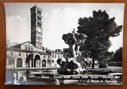 ROMA Piazza Bocca Verita Basilica S. Maria In Cosmedin Fontana Tritoni - Conchiglia Cartolina 1962 Viaggiata - Places & Squares