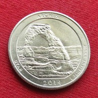 United States Quarter 1/4 Dollar 2014 D Arches  America USA Estados Unidos $ - Other