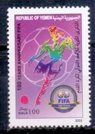 2004 Republic Of Yemen FIFA Complete Set 1 Stamps MNH - Jemen
