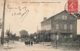 13 Rognac Grand Restaurant Figon Et Boulevard De La Liberté Cachet Gare De Roganc 1909 - France