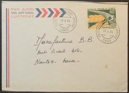 Congo - Cover To France 1974 FAO Food 40F Solo - FDC