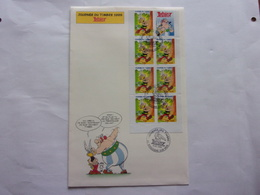 BD FDC Astérix Obélix Carnet Enveloppe Grand Format  1999 - Bandes Dessinées
