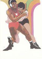 1984 Los Angeles Olympic Games Boxing Boxer Stamp Design Postcard - Ansichtskarten