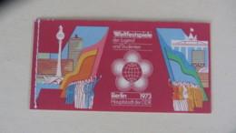 """DDR:  Markenheftchen """"Weltfestspiele Der Jugend Und Studenten In Berlin"""" -geheftet-  1973  Knr: MH 7 1A - [6] Oost-Duitsland"""