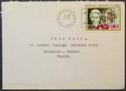 Congo - Cover To France 1978 Nobel Prize Literature Pearl Buck 60F Solo - FDC