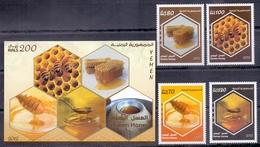 2013 Republic Of Yemen Yemeni Honey Complete Set 4 Stamps + Souvenir Sheets MNH - Jemen