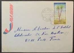 Congo - Cover To France 1981 Tree 75F Solo - FDC