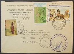 Congo - Cover To France 1982 Fetiche Costumes Rat Caught At Traditional Trap Brazza - Makoko Meeting - FDC