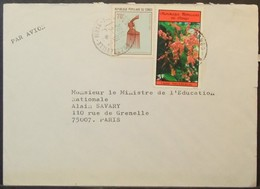 Congo - Cover To France 1984 Hair Style Comb Flower University - FDC