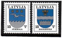 Latvia 2005 . COA 2005 (Dugavpils,Jurmala). 2v: 15, 15 - Lettonie