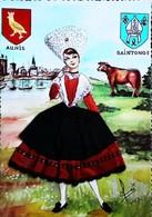 AUNIS SAINTONGE - Editions Vacances (Sans Référence/N° )  - Carte Brodée (Format CPM) - Brodées