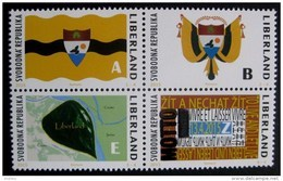 2015 Liberland (Croatia) - New Country 4v.,map, Flag, Coat Of Arm, Motto, Blason, Wappen, Landkarte, Flagge, Drapeau MNH - Geografía