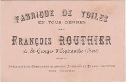 Carte Commerciale François ROUTHIER /Fabrique De Toiles Pur Chanvre /Linge Panissières 38 St-Georges D'Espéranche /Isère - Mapas