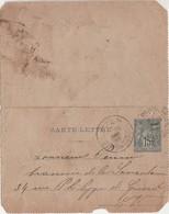 Carte-lettre Entier 1888 / 90 CP2 /Brasserie Samaritaine Paris /Commande 25 Canettes De Bière Vittel / à Livrer En Ville - Other