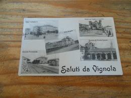 SALUTI DA VIGNOLA DATEE 1 OTT 1913 MULTI-VUES - Altre Città