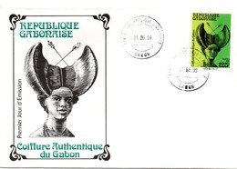 Centre Philatélique Libreville 1989 - FDC Coiffure Coiffeur Hair Cheveux - Gabun (1960-...)