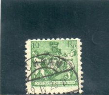 LIECHTENSTEIN 1921 O DENT 9.5 - Gebraucht