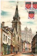 Blason D'Amiens 1962 - Chaussée Saint-Leu - Cartes-Maximum