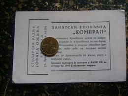 Yugoslavia-Serbia-Beograd-carpenter-stolar   (4184) - Facturas & Documentos Mercantiles
