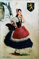 """"""" La Franc Comtoise"""" - Editions FANTA CAP (  Référence/N°12 )  - Carte Brodée (Format CPA) - Brodées"""