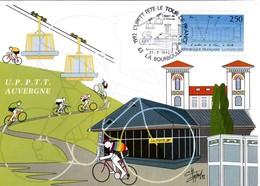 La Bourboule 63 - BT Tour De France 1992 - étape De Saint-Etienne à Charlannes - Auvergne - Cyclisme Vélo - Marcophilie (Lettres)