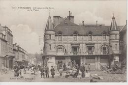 TERRASSON  L'avenue De La Gare Et La Place - Sonstige Gemeinden