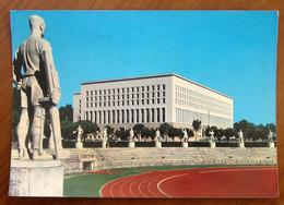ROMA Ministero Esteri (Farnesina) Visto Dal Foro Italico Cartolina 1962 Viaggiata - Stadi & Strutture Sportive