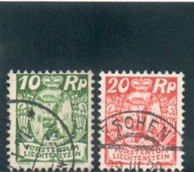 LIECHTENSTEIN 1924-7 O - Gebraucht
