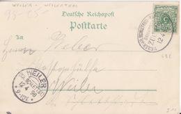 CP Gruss (St Kreutz) Obl Ambulant (Weiler-Schlettsd-Weilerthal, Zug 492) Sur TP 5pf Le 12/4/98 Pour Weiler - Railway Post
