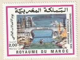 Maroc. Timbre 1989. Yvert Et Tellier N° 1072. Journée Mondiale Des Télécommunications. - Marokko (1956-...)