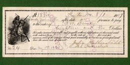 USA Promissory Note HORTON Missouri 1909 Indian Riding Horse - Non Classificati