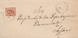Castelsardo. 1899. Annullo Grande Cerchio CASTELSARDO (SASSARI), Su Lettera Affrancata - 1878-00 Umberto I