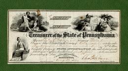 USA Treasurer Of The State Of Pennsylvania Harrisburg 1864 CIVIL WAR ERA - Non Classificati