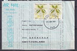 Cover To Switzerland With Mi 585 / Rhodondendron Crutwellii (05511) - Papua-Neuguinea