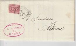 Orani. 1897. Annullo Grande Cerchio ORANI, Su Lettera Affrancata. Avviso D'asta. - 1878-00 Umberto I