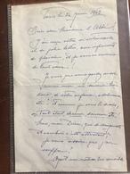 """Lettre Autographe De Cleo De Merode + Livre Dédicacé """"Le Ballet De Ma Vie"""" - Autographs"""