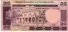 Somalia P.23 20 Shilin 1978 Au++ - Somalia