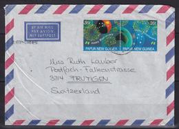Cover To Switzerland With Mi 572-573 / Bicentenary (05516) - Papua-Neuguinea