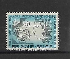 België  N° 1253V Punt Voor Fr  Xx Postfris - Variedades (Catálogo COB)