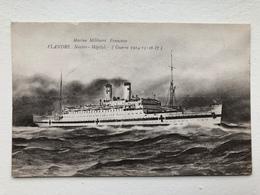 Ak Cp Marine Militaire Flandre Navire Hopital - Guerra 1914-18