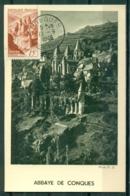 CM-Carte Maximum Card #1948-France (Yvert.N° 792) #Sites & Monuments,Tourisme, Abbaye,Abrei,Abbay By Conques ,Conques - 1940-49