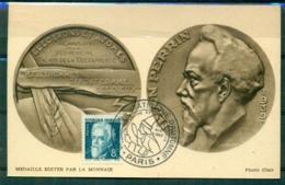 CM-Carte Maximum Card #1948-France (Yvert.N° 820)Sciences-Jean Perrin,physicien,physicist,,obl.Salon Medecine Paris - 1940-49