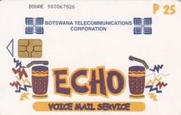 Botswana, BW-BTC-0021A, Echo, Voice Mail Service, 2 Scans.   CN : BOGAE+9 Digits.   GEM5 (Black) - Botsuana