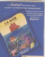 Protège Cahier Chocolat Casino - La Mer Et Ses Merveilles - Très Bon état - Papel Secante