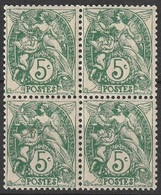 France 1900-24 N° 111 NMH Type Blanc Bloc De Quatre (G3) - 1900-29 Blanc