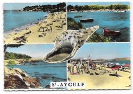 83 - Souvenir De SAINT-AYGULF - Multivues Avec Coquillage - Ed. ABEILLE-CARTES N° CC - Cpsm Colorisée - Saint-Aygulf