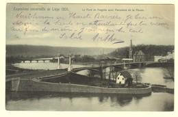 A1954[Postkaart] Exposition Universelle De Liége 1905. / Le Pont De Fragnée Avec Panorama De La Meuse (Nels) [Luik Brug - Liege