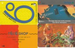 LOT 4 PHONE CARD SINGAPORE (PY2473 - Singapore